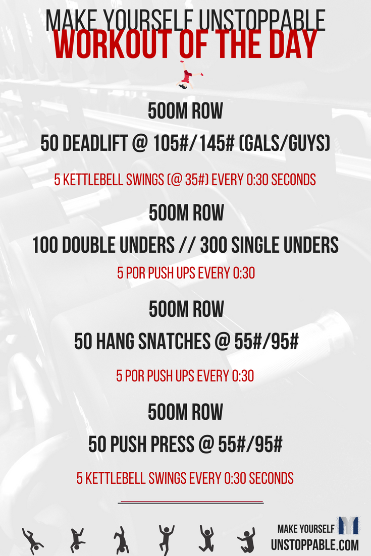 Make Yourself Unstoppable Free Workout of the Day