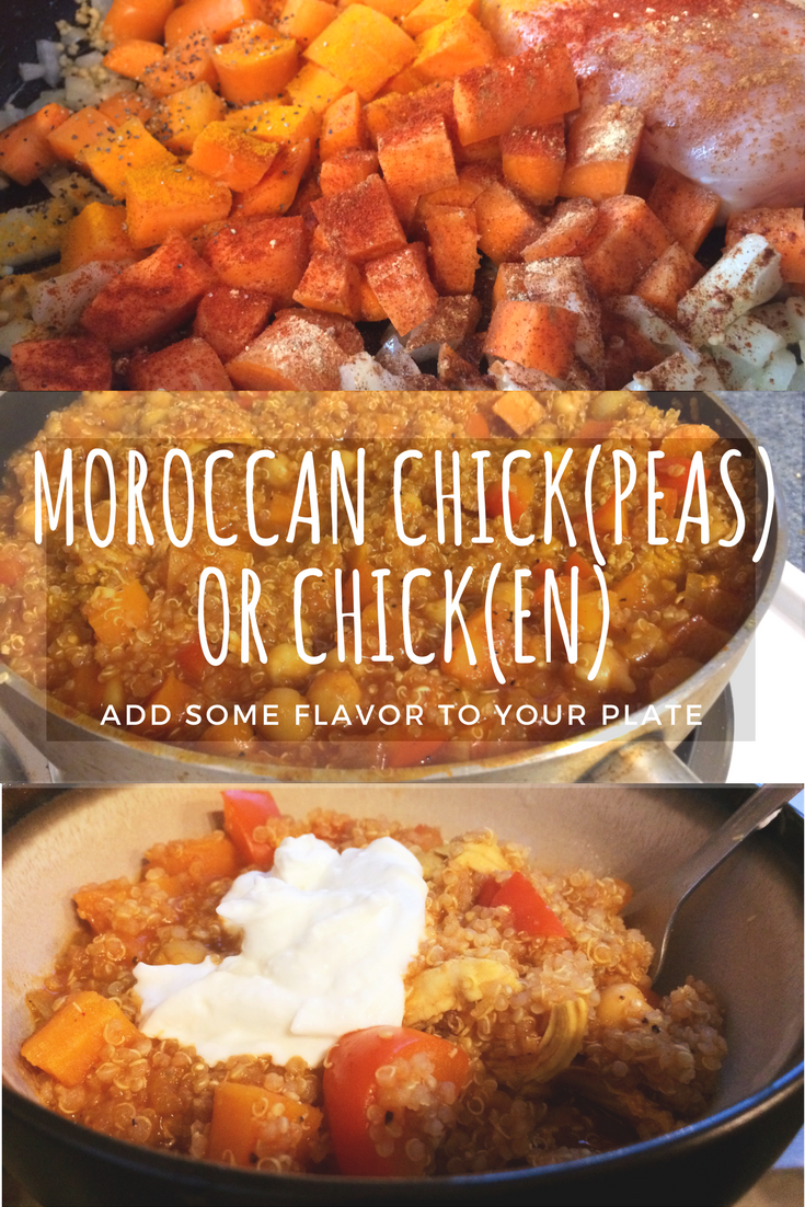 Moroccan chickpeas or chicken recipe