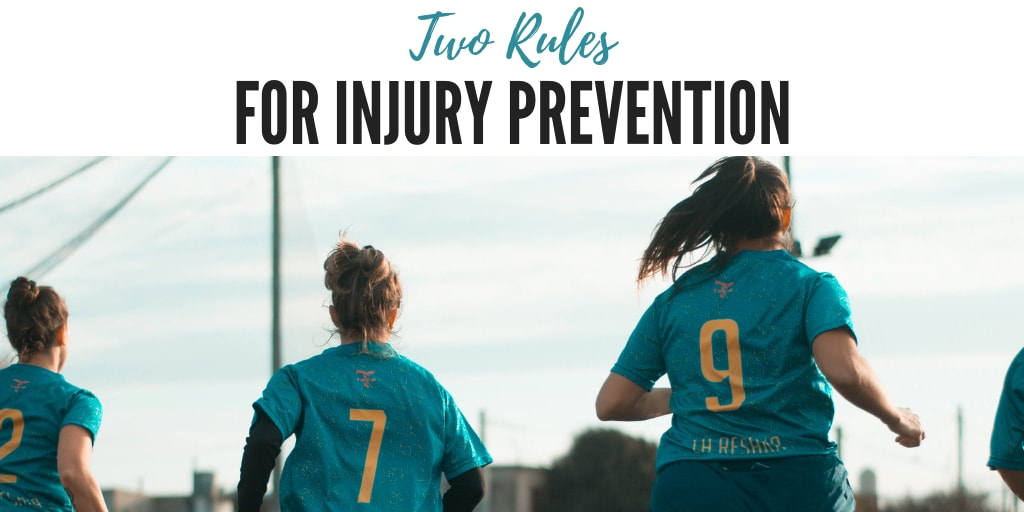 Two rules for athletes to prevent injuries