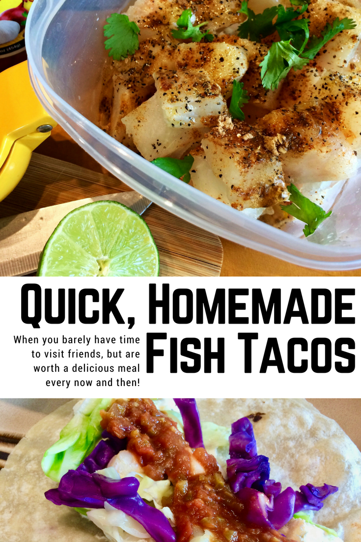 Quick, Homemade Fish Tacos