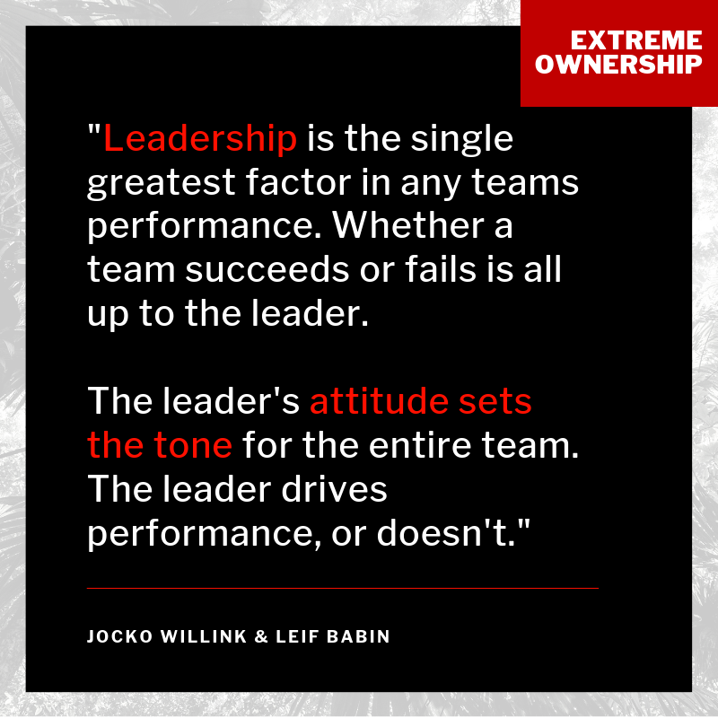 Leadership, attitude, ownership